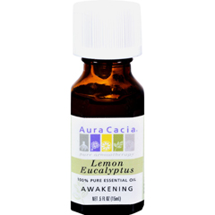 HGR0604272 - Aura Cacia100% Pure Essential Oil Lemon Eucalyptus - 0.5 fl oz