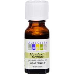 HGR0604330 - Aura Cacia100% Pure Essential Oil Mandarin Orange - 0.5 fl oz