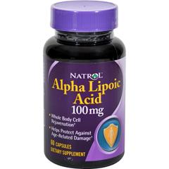 HGR0607341 - NatrolAlpha Lipoic Acid - 100 mg - 60 Capsules