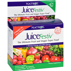 HGR0610915 - NatrolJuiceFestiv and VeggieFestiv - Buy One Get One Free - 2 ct - 60 Caps