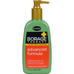 HGR0611434 - Shikai Products - Shikai Borage Therapy Advanced Formula Fragrance Free - 8 fl oz