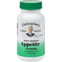 HGR0611590 - Dr. Christopher'sAppetite Formula - 475 mg - 100 Vegetarian Capsules