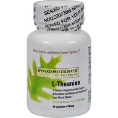 HGR0615492 - Food Science of VermontL-Theanine - 200 mg - 60 Vegetarian Capsules