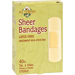 HGR0620369 - All TerrainBandages - Sheer - 3/4 in x 3 in - 40 ct