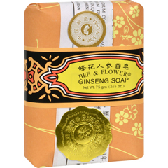 HGR0621086 - Bee and Flower - Soap Ginseng - 2.65 oz - Case of 12