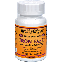 HGR0625954 - Healthy OriginsIron Ease as SunActive - 27 mg - 60 Capsules