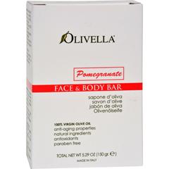 HGR0627836 - OlivellaFace and Body Bar Soap Pomegranate - 5.29 oz