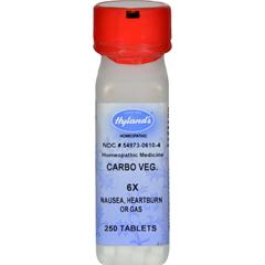 HGR0629014 - Hyland'sHomeopathic Carbo Vegetabilis 6X - 250 Tablets