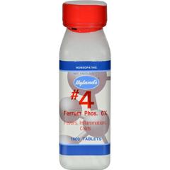 HGR0629170 - Hyland'sHylands Homeopathic Number 4 Ferrum Phosphoricum 6X - 1000 Tablets
