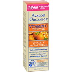 HGR0633784 - AvalonOrganics Vitality Facial Serum Vitamin C - 1 fl oz