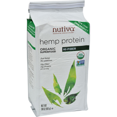HGR0633875 - Nutiva - Organic Hemp Protein Plus Fiber - 30 oz