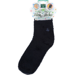 HGR0634709 - Earth TherapeuticsMoisturizing Aloe Socks Black - 1 Pair