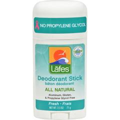 HGR0635078 - Lafe's Natural Body Care - Organic Deodorant Stick Fresh - 2.5 oz
