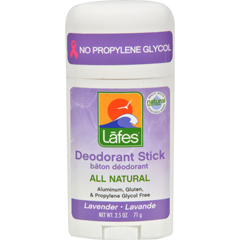 HGR0635110 - Lafe's Natural Body CareNatural and Organic Deodorant Stick - Lavender - 2.5 oz