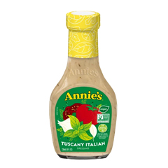 HGR0635664 - Annie's Homegrown - Dressing Tuscany Italian - Case of 6 - 8 fl oz..