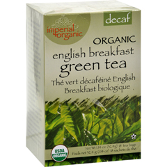 HGR0640136 - Uncle Lee's TeaImperial Organic Decaffeinated English Breakfast Green Tea - 18 Tea Bags