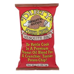 HGR0648451 - Dirty Chips - Potato Chips - Mesquite BBQ - Case of 25 - 2 oz..