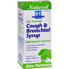 HGR0648964 - Boericke and TafelCough and Bronchitis Syrup with Zinc - 4 oz