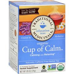 HGR0649103 - Traditional MedicinalsOrganic Easy Now Herbal Tea - 16 Tea Bags - Case of 6