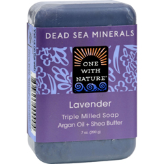 HGR0650317 - One With Nature - Dead Sea Mineral Soap Lavender - 7 oz