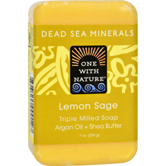 HGR0650333 - One With Nature - Dead Sea Mineral Lemon Verbena Soap - 7 oz