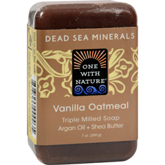 HGR0650432 - One With NatureDead Sea Mineral Vanilla Oatmeal Soap - 7 oz