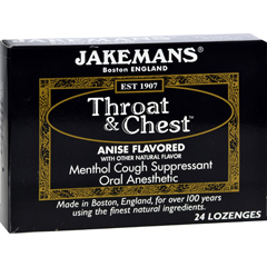 HGR0650622 - JakemansThroat and Chest Lozenges - Anise - 24 Pack