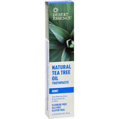 HGR0654384 - Desert EssenceNatural Tea Tree Oil Toothpaste Mint - 6.25 oz