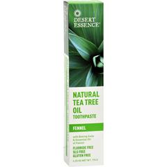 HGR0654566 - Desert EssenceNatural Tea Tree Oil Toothpaste Fennel - 6.4 oz