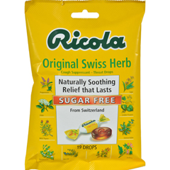HGR0654772 - RicolaSugar Free Drops - Swiss Herb - Case of 12 - 19 Pack