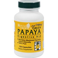 HGR0655290 - Royal TropicsThe Original Green Papaya Digestive Aid - 150 Capsules