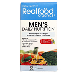 HGR0655555 - Realfood OrganicsDaily Nutrition - Organic - Mens - 60 Tablets