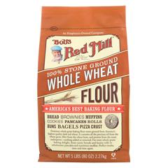 HGR0663757 - Bob's Red MillWhole Wheat Flour - 5 lb - Case of 4