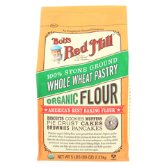 HGR0663831 - Bob's Red MillOrganic Whole Wheat Pastry Flour - 5 lb - Case of 4