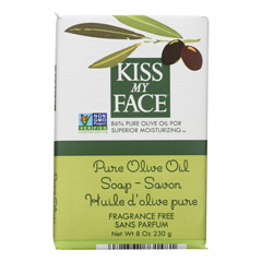 HGR0665000 - Kiss My FaceBar Soap Pure Olive Oil Fragrance Free - 8 oz