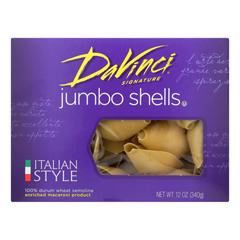 HGR0668350 - Davinci - Pasta - Jumbo Shells - Case of 12 - 12 oz.