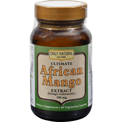 HGR0671859 - Only NaturalUltimate African Mango Extract - 500 mg - 60 Vegetarian Capsules
