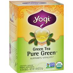 HGR0672550 - Yogi TeasPure Green - Green Tea - Contains Caffeine - 16 Tea Bags