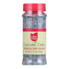 HGR0674093 - Cake Mate - Decorating Cupcake Gems - Pearlescent Sugar - 1.75 oz.. - Case of 6