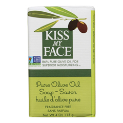 HGR0677401 - Kiss My FaceBar Soap Pure Olive Oil Fragrance Free - 4 oz