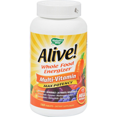 HGR0678151 - Nature's WayAlive Whole Food Energizer Multi-Vitamin - 180 Tablets