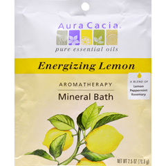 HGR0682435 - Aura CaciaAromatherapy Mineral Bath Energizing Lemon - 2.5 oz - Case of 6