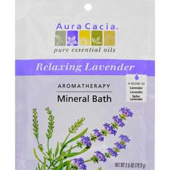 HGR0682534 - Aura CaciaAromatherapy Mineral Bath Lavender Harvest - 2.5 oz - Case of 6