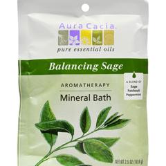HGR0682575 - Aura CaciaAromatherapy Mineral Bath Balancing Sage - 2.5 oz - Case of 6
