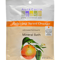 HGR0682633 - Aura CaciaAromatherapy Mineral Bath Relaxing Sweet Orange - 2.5 oz - Case of 6