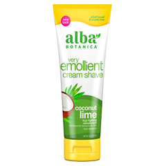 HGR0684027 - Alba BotanicaMoisturizing Cream Shave For Men and Women Coconut Lime - 8 fl oz
