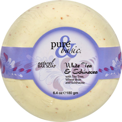 HGR0688358 - Pure and BasicBar Soap - White Tea Echinacea - Case of 6 - 6.4 oz