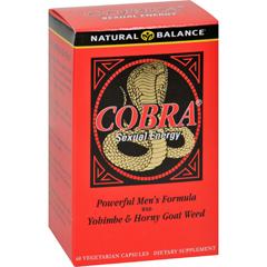 HGR0689745 - Natural BalanceCobra Sexual Energy - 60 Vegetarian Capsules