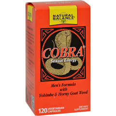 HGR0689760 - Natural BalanceCobra Sexual Energy - 120 Vegetarian Capsules