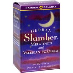 HGR0690149 - Natural BalanceHerbal Slumber Melatonin and Valerian Formula - 60 Capsules